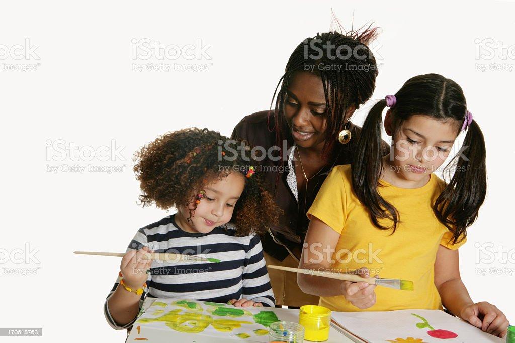 Creative lesson stock photo