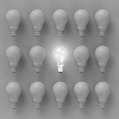 Creative light bulb Idea concept Light