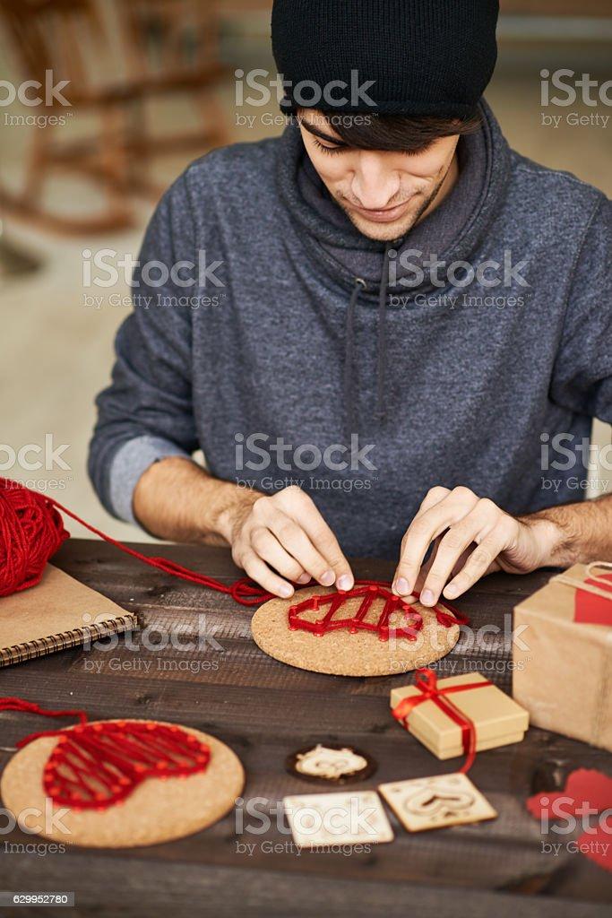 Creative man stock photo