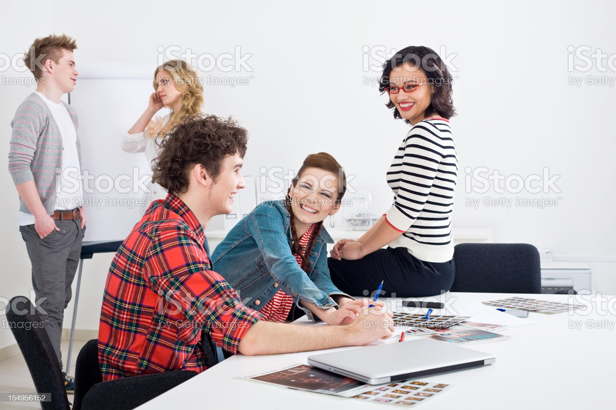 Creative Meeting in a Boardroom royalty-free stock photo