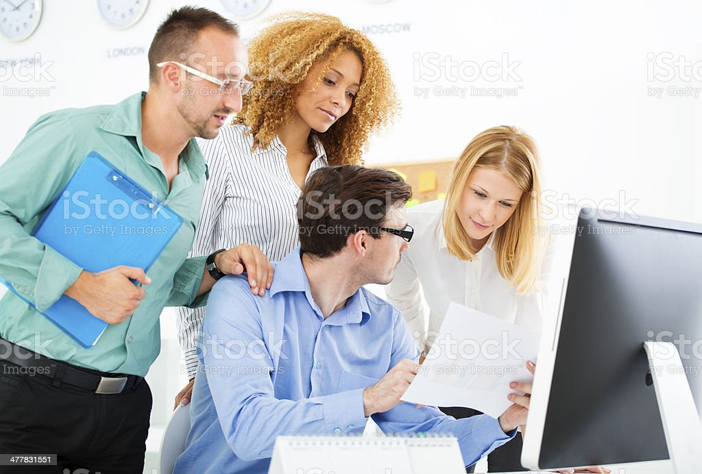 Creative Meeting in a Office. royalty-free stock photo