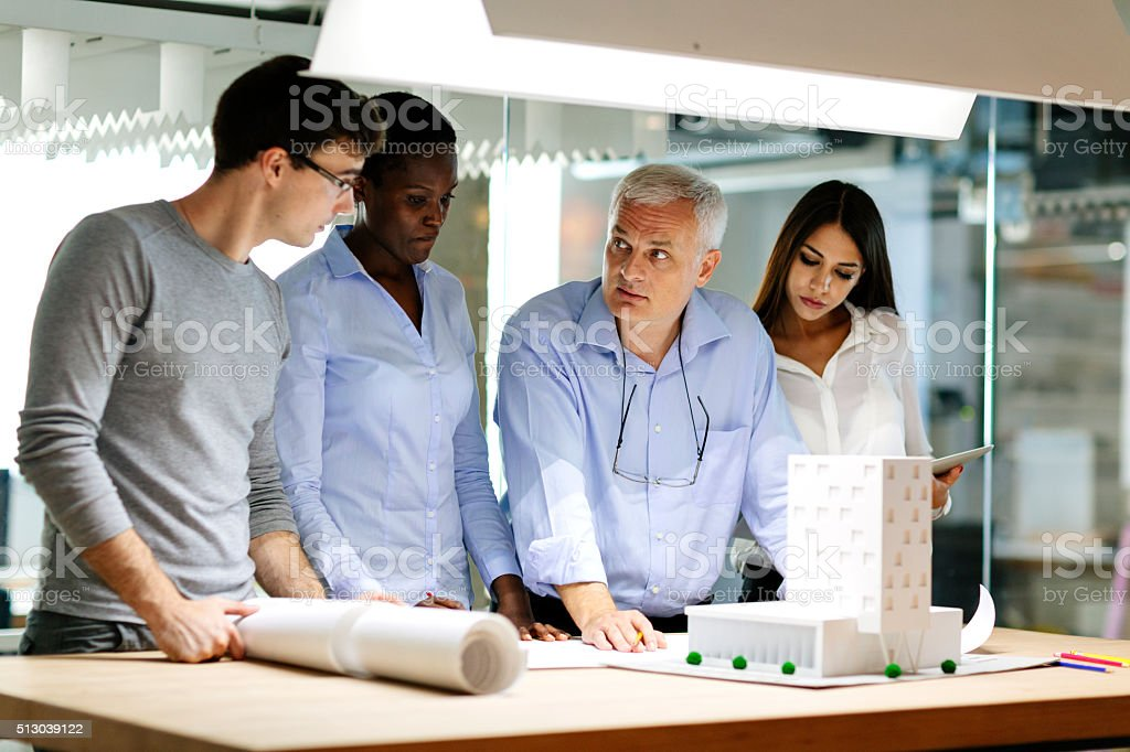 Creative Meeting in the office. stock photo