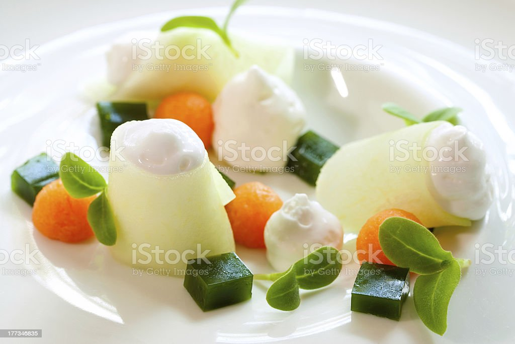 Creative melon choix de desserts. photo libre de droits