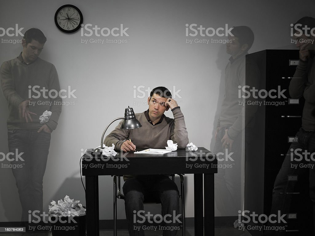 Creative Mental Block stock photo