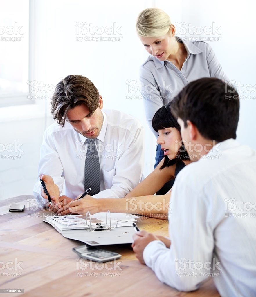 Creative minds at work royalty-free stock photo
