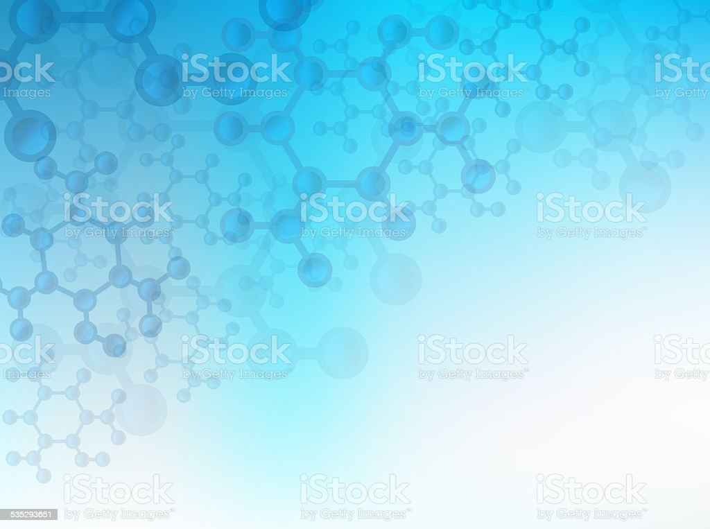 Creative Molecular Structure for Healthcare, Medical or Science stock photo