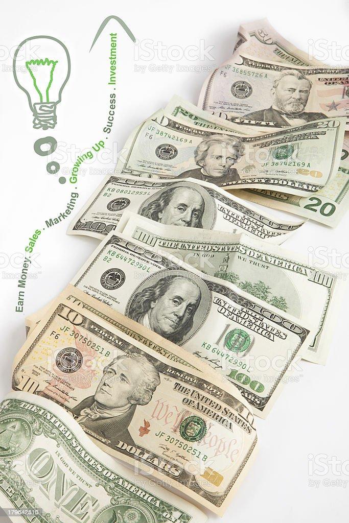 Creative Money Idea royalty-free stock photo