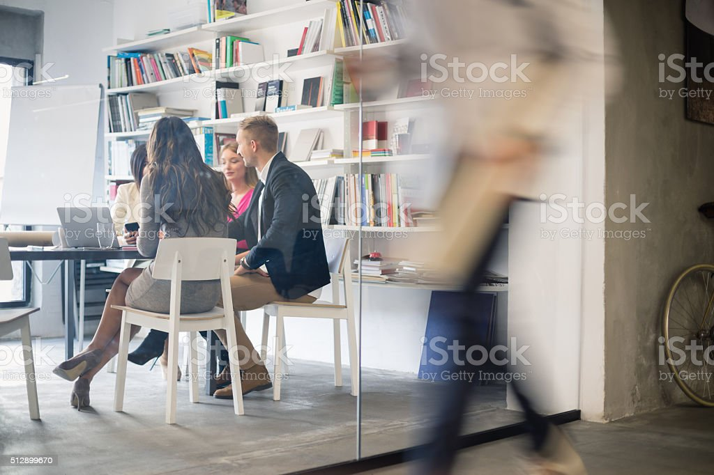 Creative people at meeting stock photo
