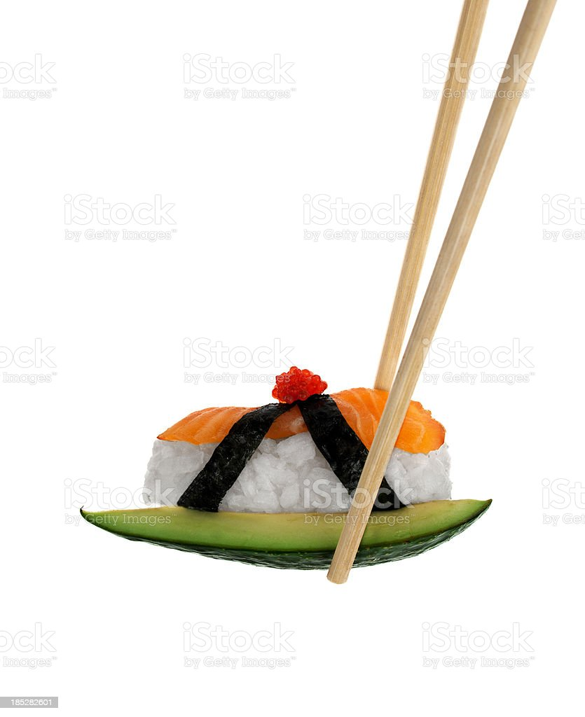 Creative piece of Japanese Sushi royalty-free stock photo