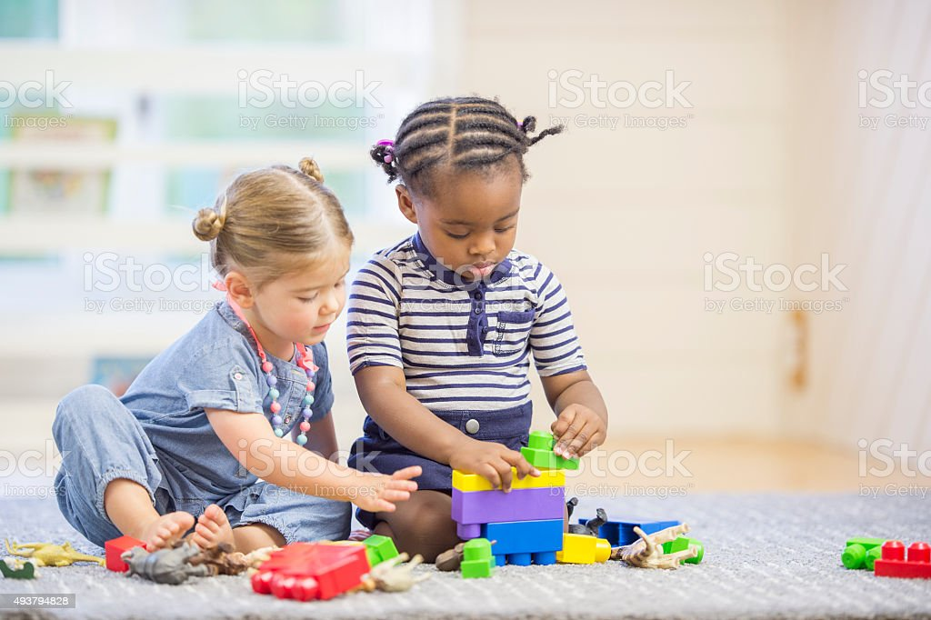 Creative Play at Preschool stock photo