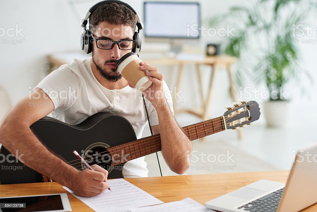Creative process stock photo