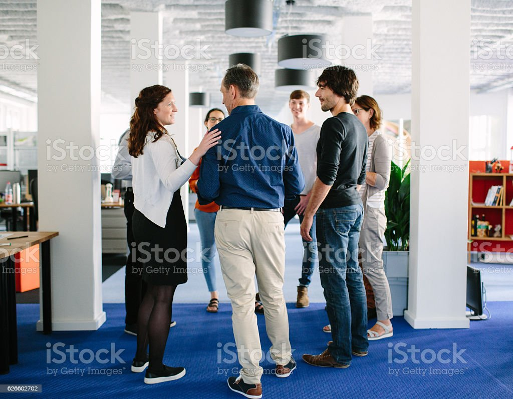 Creative professionals having a meeting stock photo