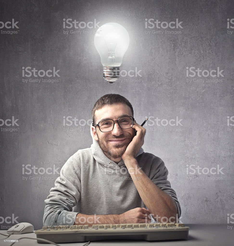 Creative programmer royalty-free stock photo