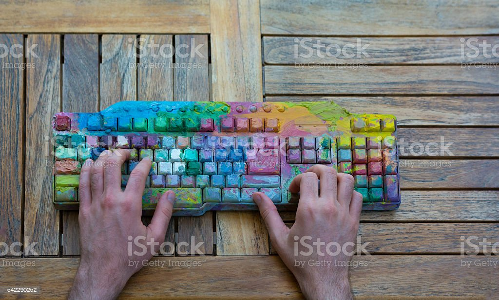 Creative programming stock photo