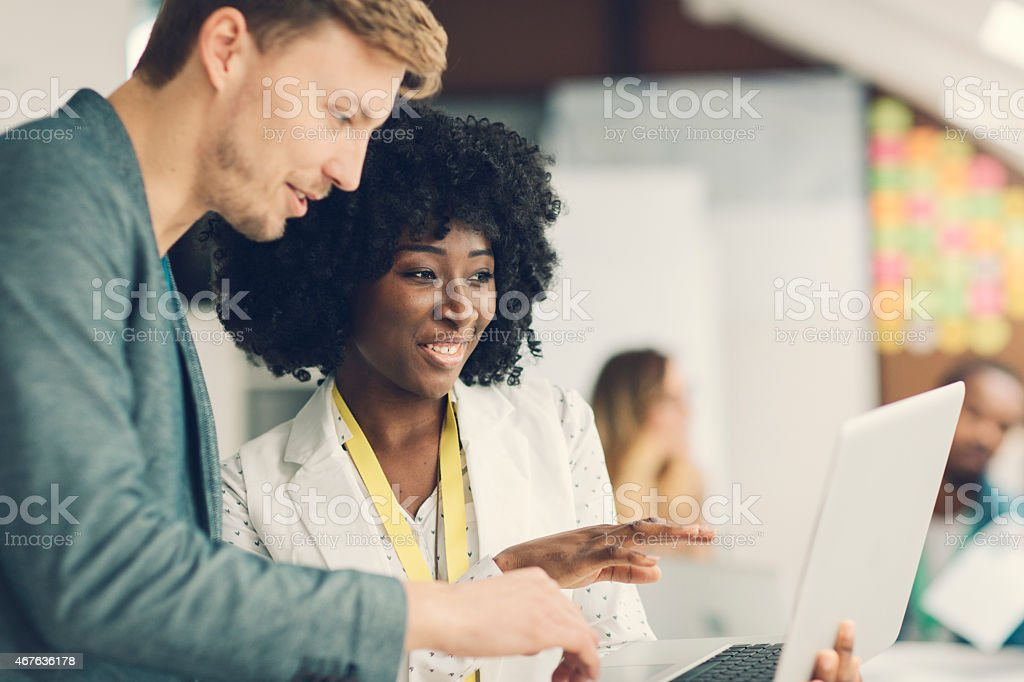 Creative Start-Up Business Team Working. stock photo