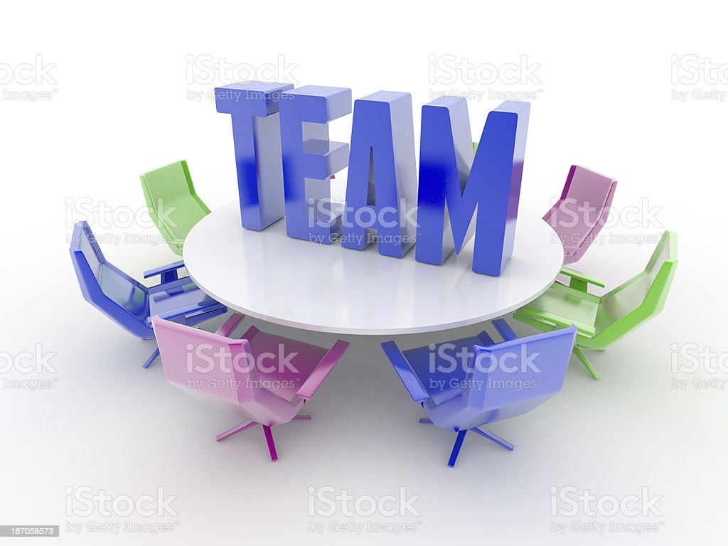 Creative Teamwork royalty-free stock photo
