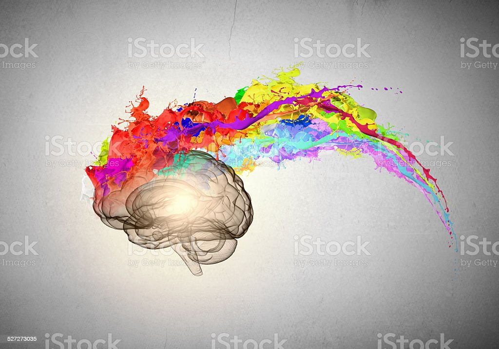 Creative thinking stock photo