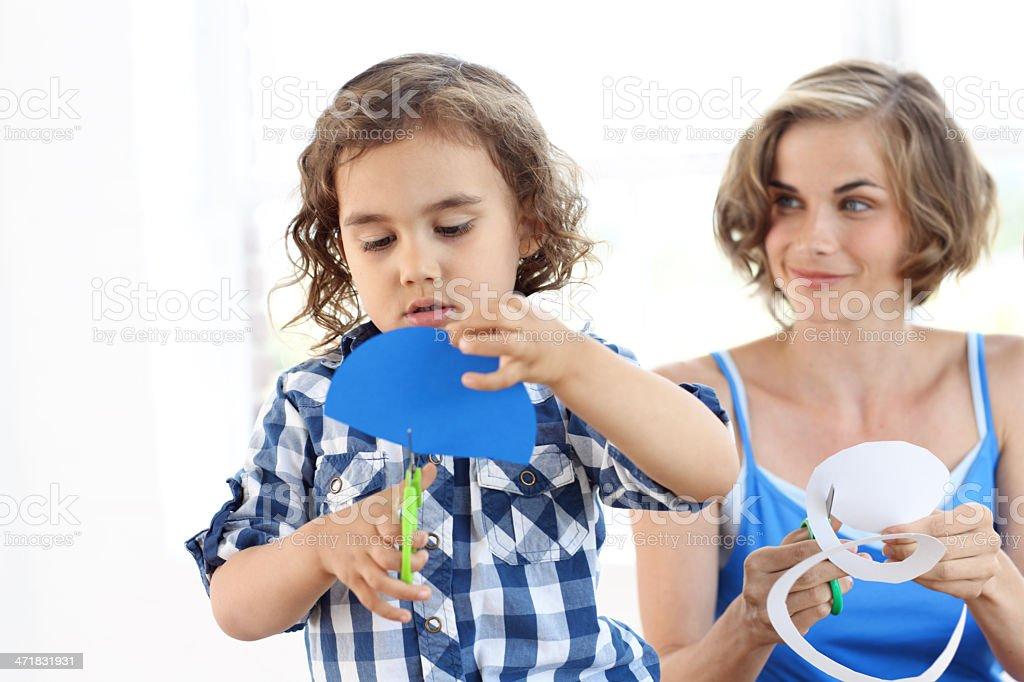 Creative toddler stock photo