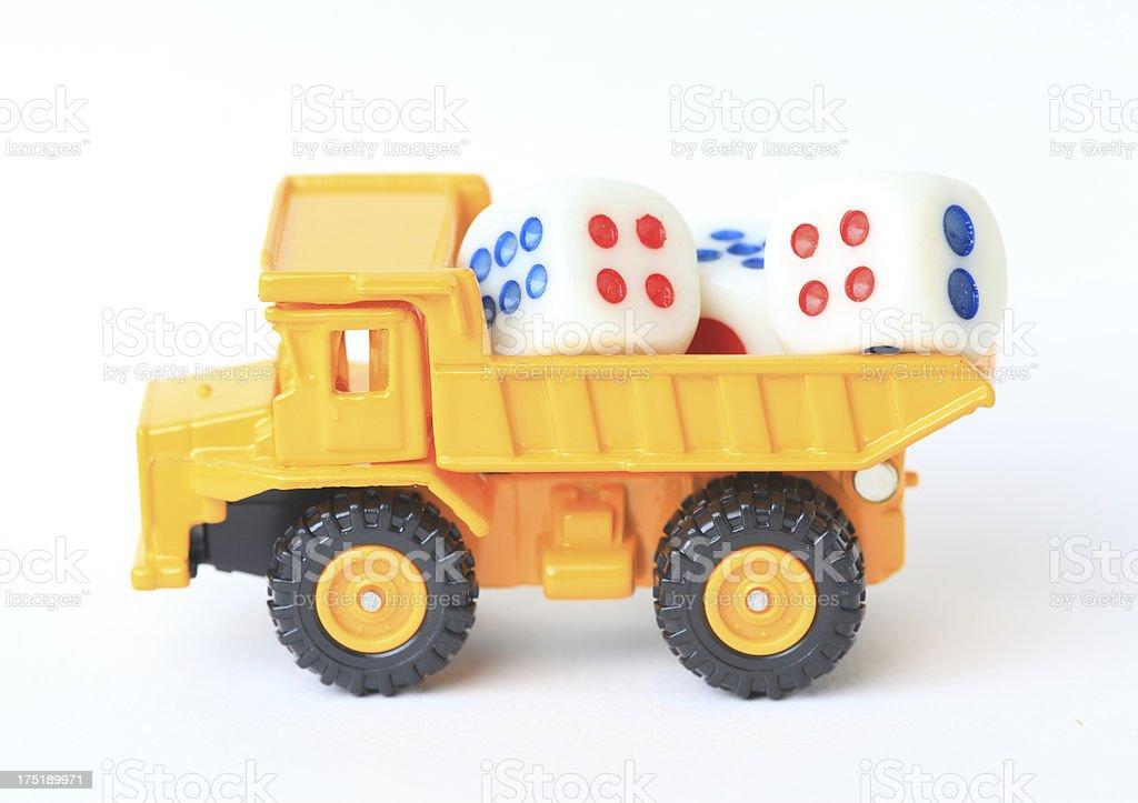 Creative toy car royalty-free stock photo