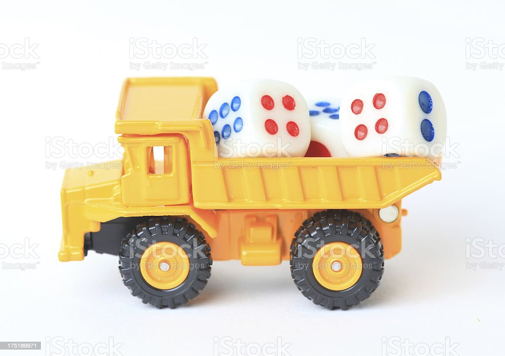 Creative toy car stock photo