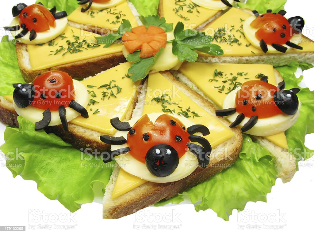 creative vegetable sandwich with cheese royalty-free stock photo