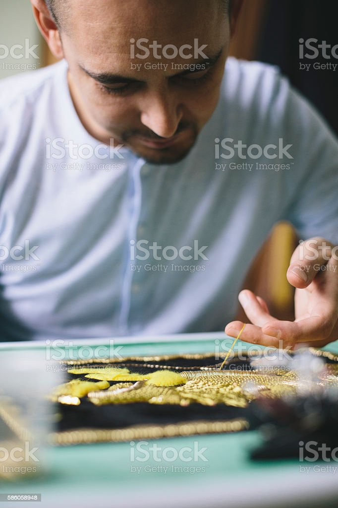 Creativity and concentration stock photo