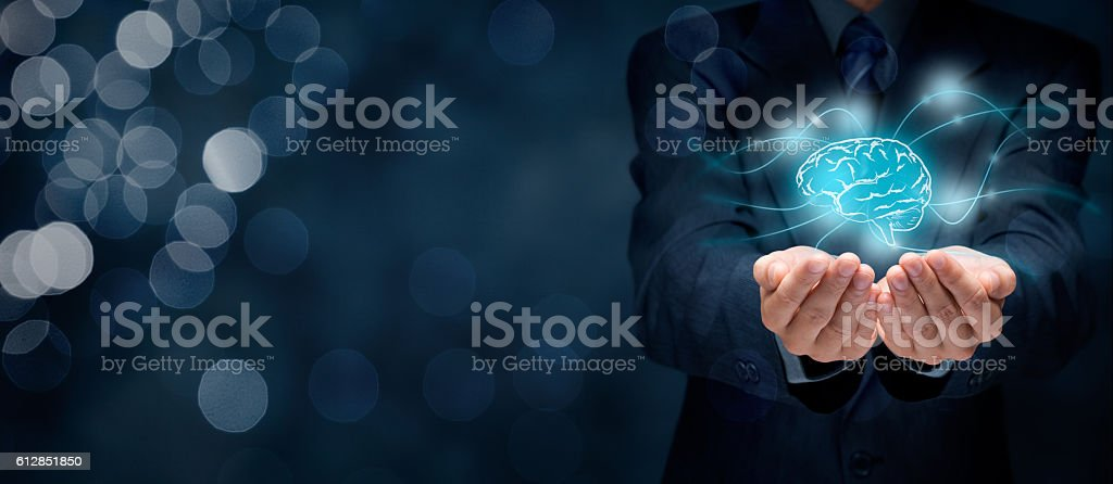 Creativity and headhunter stock photo