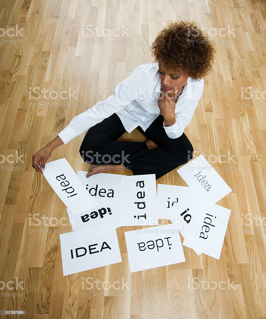 Creativity and ideas royalty-free stock photo