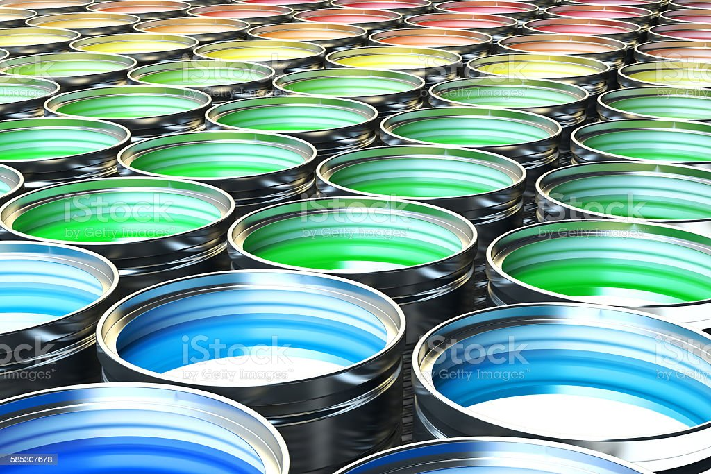 Creativity concept, rainbow color palette stock photo