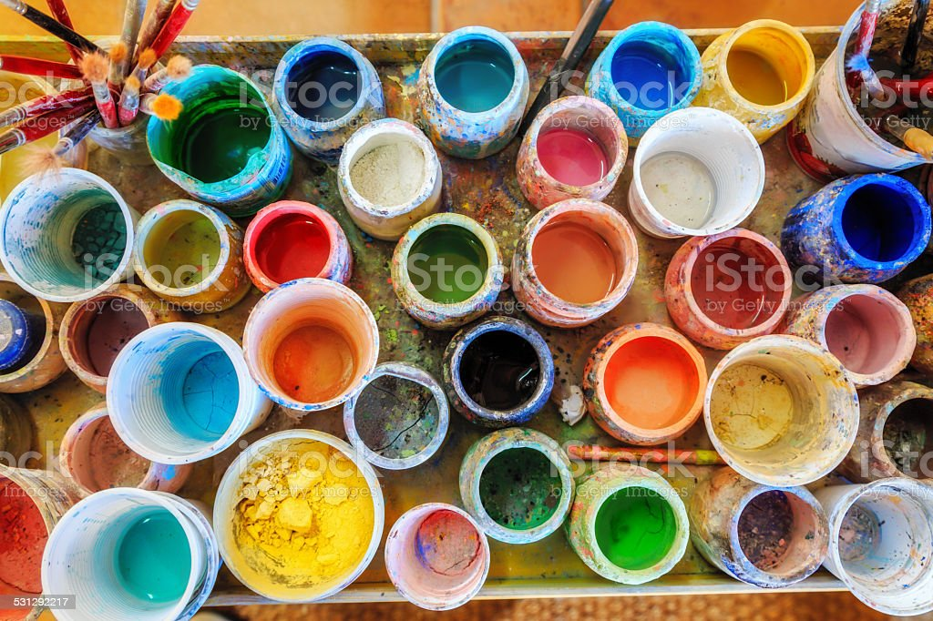Creativity in Art Studio stock photo