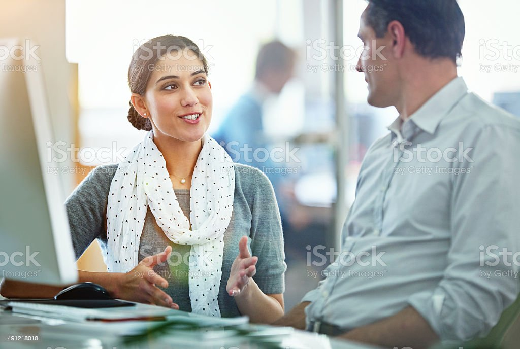 Creativity is a collaboration stock photo