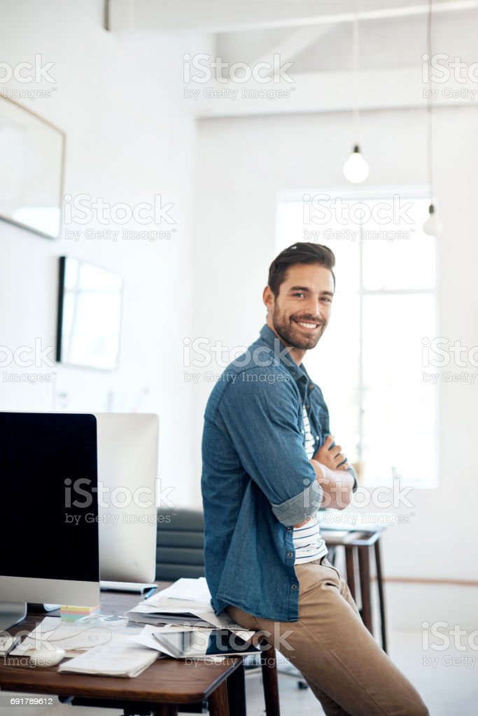 Creativity is what keeps my enthusiasm for work running strong stock photo