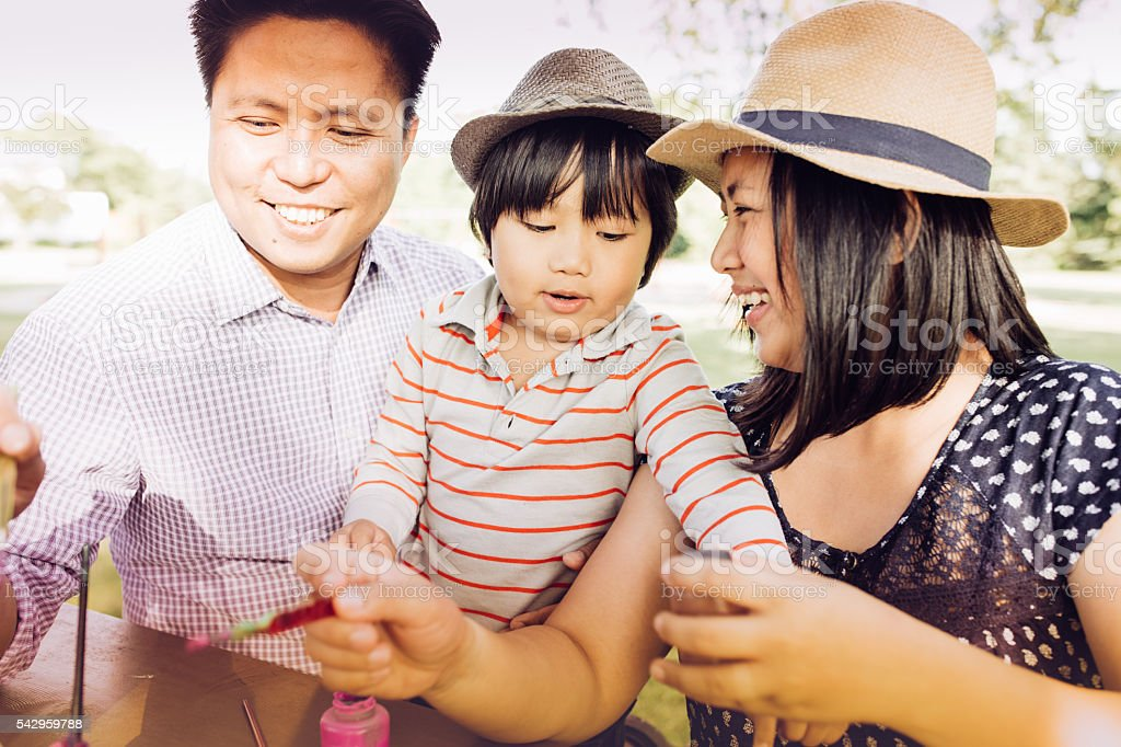 Creativity lessons for whole family stock photo