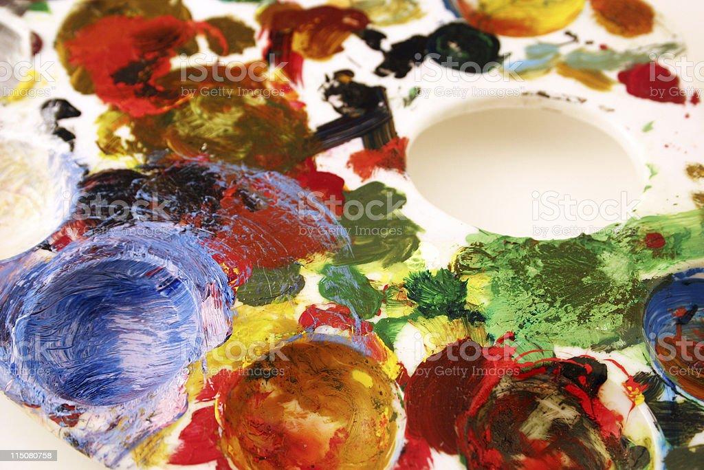Creativity (messy pallette) stock photo