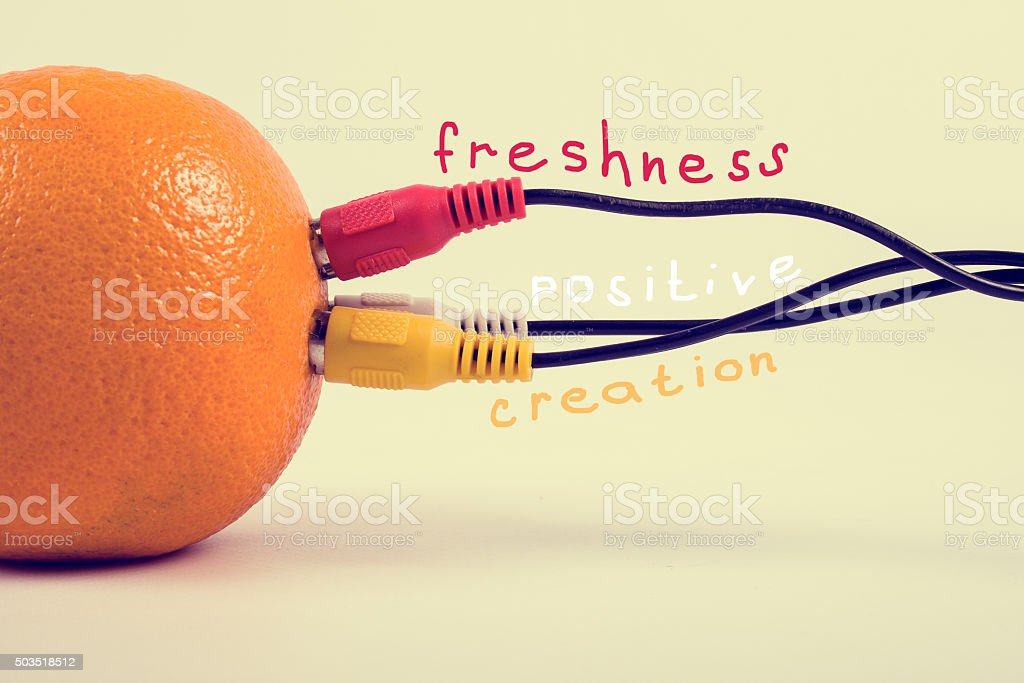 Creativity, positive and freshness. royalty-free stock photo
