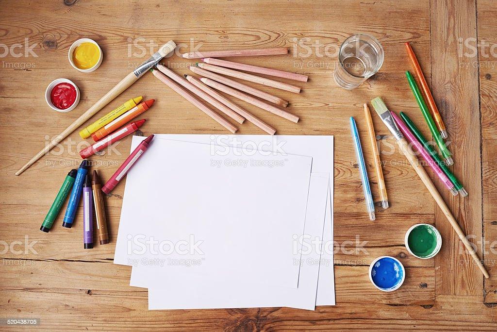 Creativity takes courage stock photo