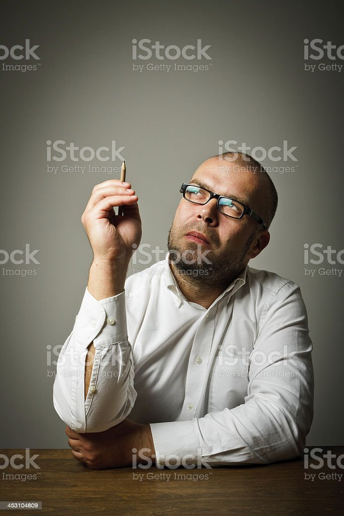 Creator. Man in thoughts. royalty-free stock photo