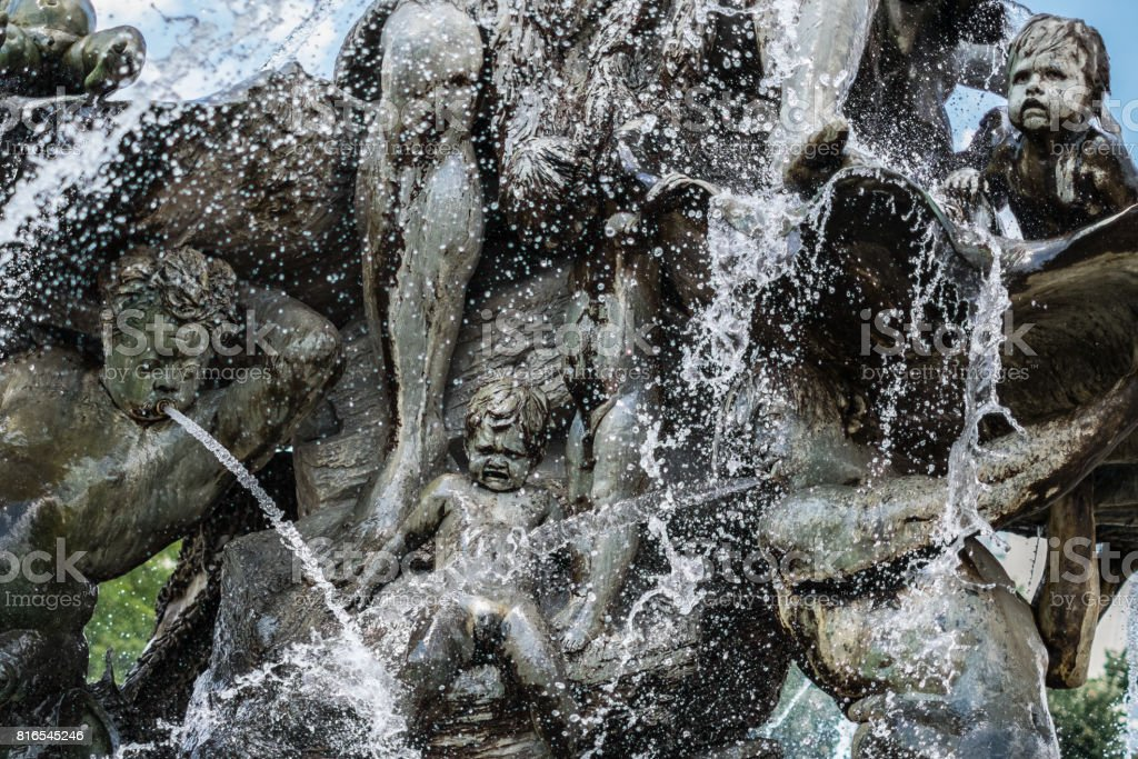 creatures, figures and faces - Sculptures of the Neptune fountain in  Berlin stock photo