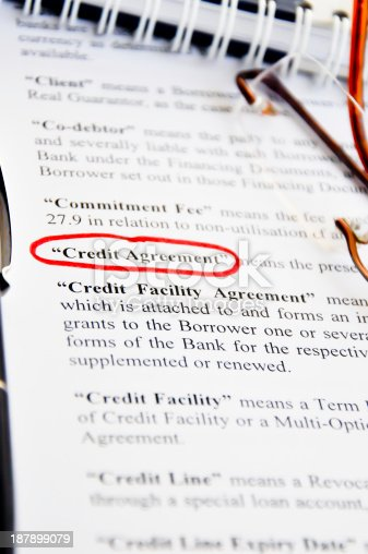 Credit Agreement Stock Photo   Istock