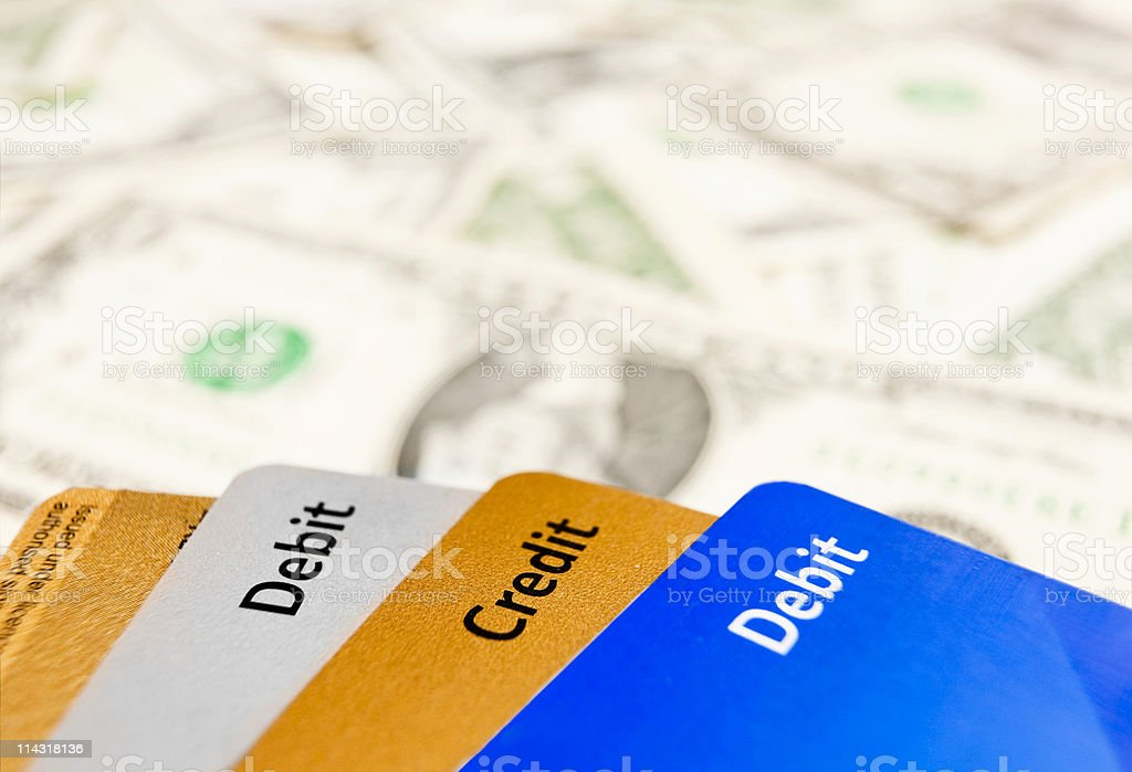Credit and debt royalty-free stock photo