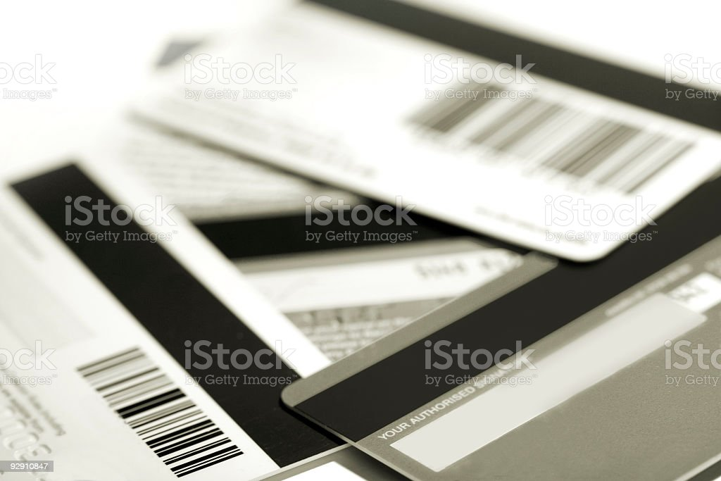 credit and store cards royalty-free stock photo