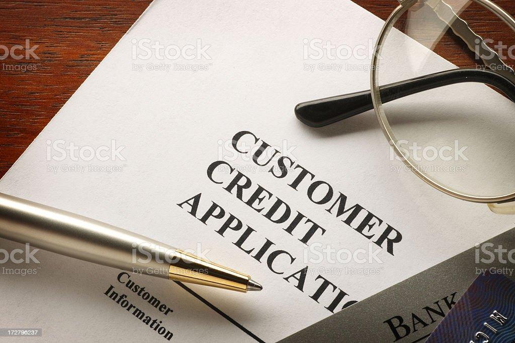 Credit Application stock photo