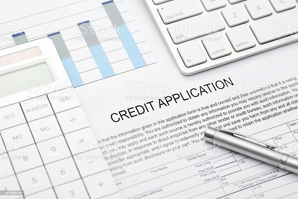 Credit Application stock photo