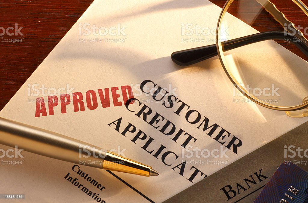 Credit Application royalty-free stock photo