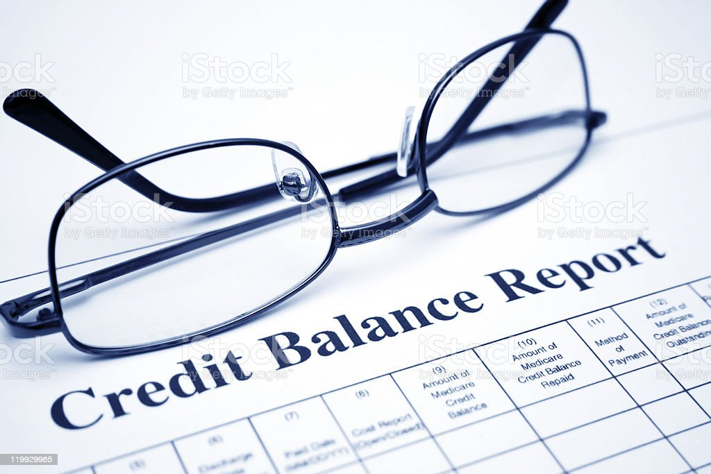 Credit balance report royalty-free stock photo