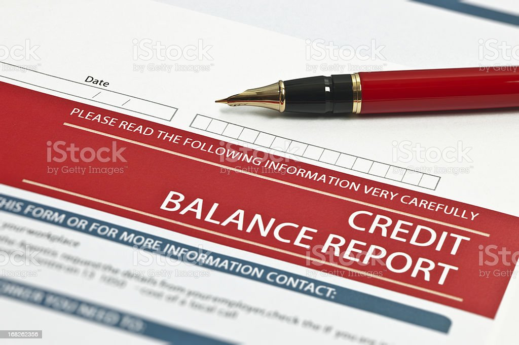 Credit Balance Report stock photo