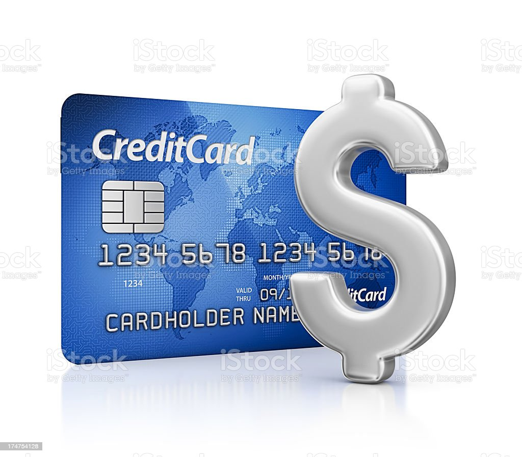 credit card and dollar sign royalty-free stock photo