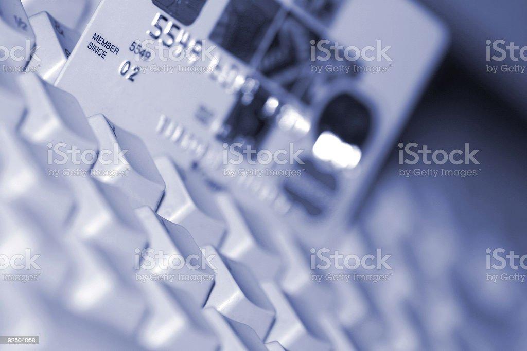 Credit Card and Keyboard 2 royalty-free stock photo