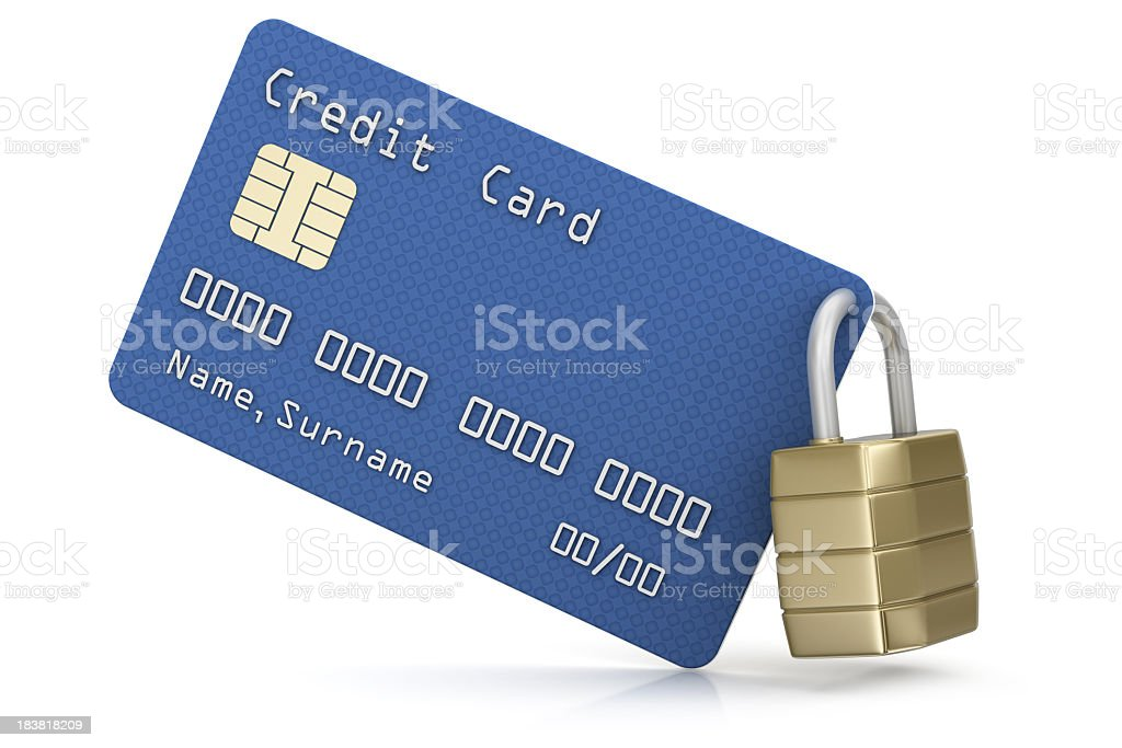 Credit Card and Padlock royalty-free stock photo