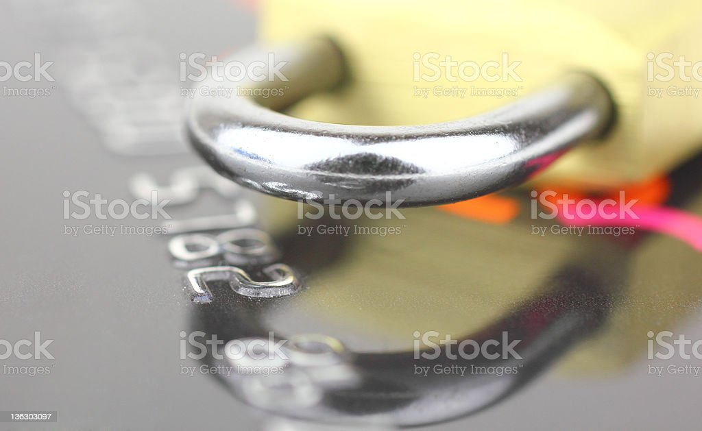 Credit Card and Safety royalty-free stock photo